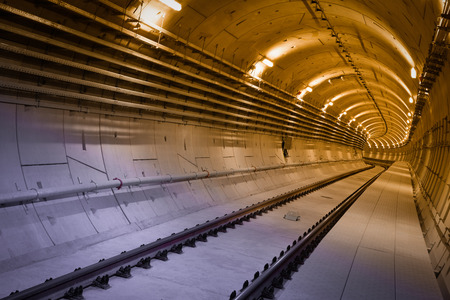 subway tunnel before a usage photo