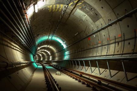underground metro line photo
