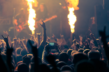 Photo of rock concert, music festival Stock Photo