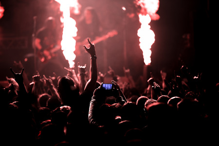 Photo of rock concert, music festival Stock Photo
