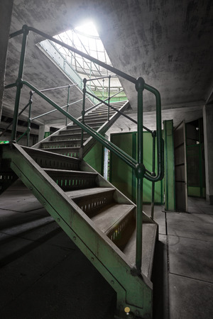 old abandoned industrial building interior photo