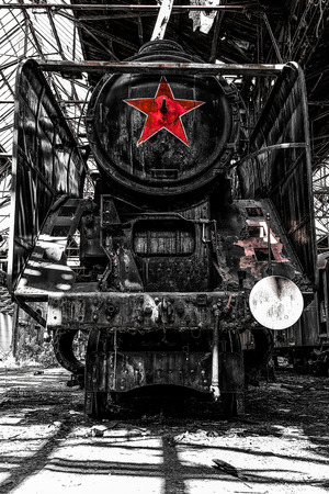 cam gear: Old locomotive