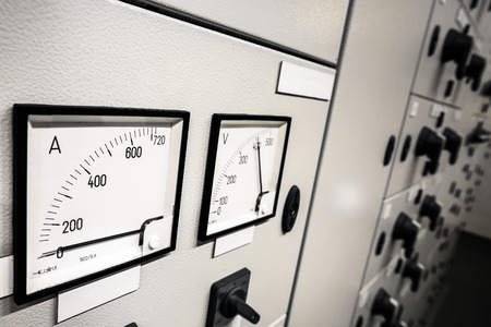 megawatt: Electric  amperage  control Stock Photo