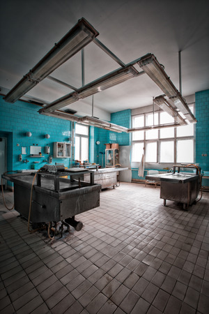 autopsy: an autopsy room interior Stock Photo