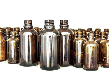 large and small brown medical glass photo