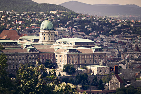 Buda Castle in Budapest, the Hungarian capital