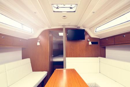 Photo of a luxury yacht interior part