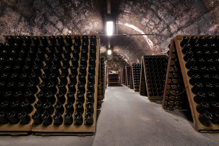 an old cellar of a traditional beverage company