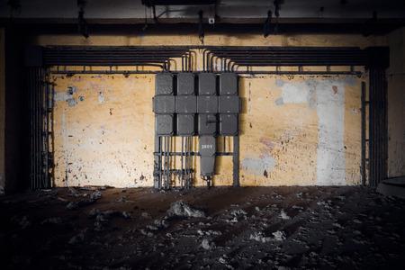 megawatt: old electrical switchboards