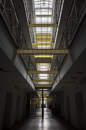 poor light: Inside prison, poor light Stock Photo