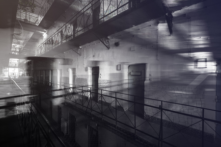 jail: interior jail Stock Photo