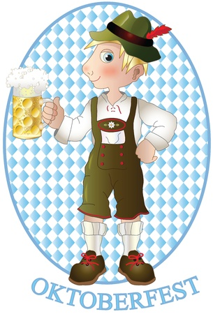 boy with a pitcher of beer