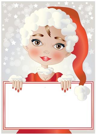 A beautiful girl with Christmas dress