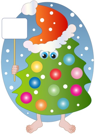 a chistmast tree with decoration Vector
