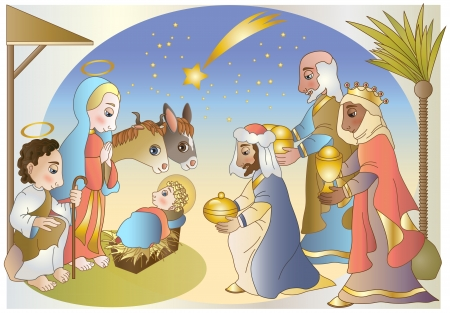 adoration of the Magi Vector