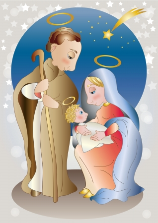 Soft colors nativity Vector