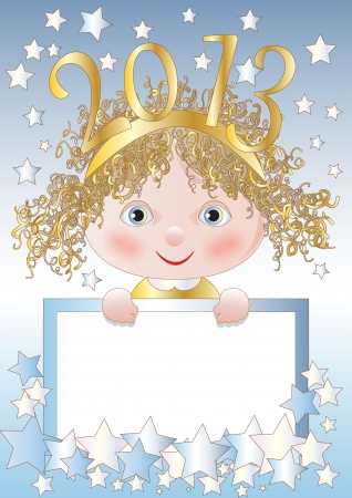 A Funny Baby is the New Year Stock Vector - 16878965