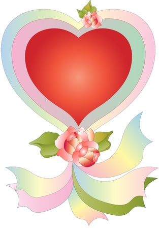 Heart with Ribbons