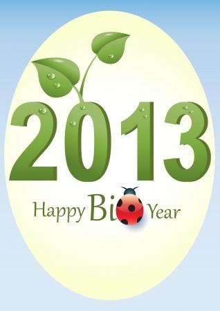 biologic: Text 2013 as a Biologic Symbol  Illustration