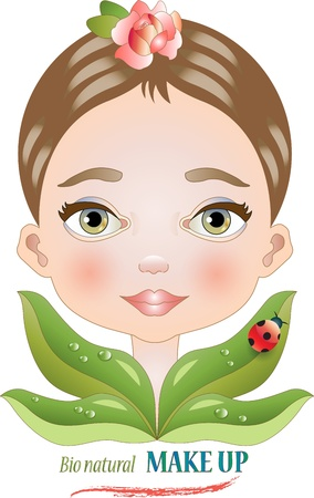 A face of simple beauty that is the symbol of natural products Stock Vector - 17114883
