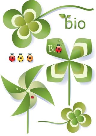 Set of Bio Symbols Illustration