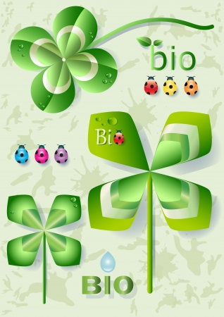 cloverleaf: Pinwheel and Cloverleaf -bio Symbol Illustration