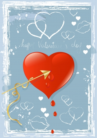 Heart on Blue Graffiti