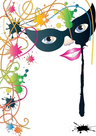 Mask and Colors Stock Vector - 17758864