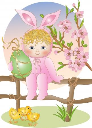 Baby Bunny Illustration