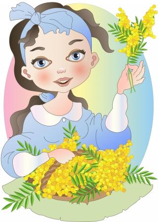 Seller of Mimosas Illustration