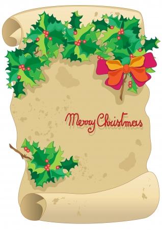 Christmas parchment Illustration