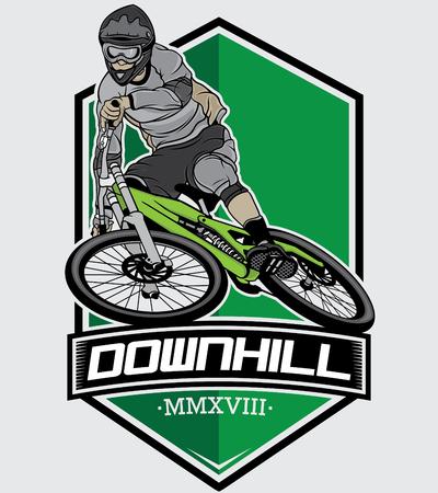 downhill mountain bike, vector 10
