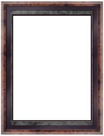 bordering: Decorative picture frame isolated on white.  Stock Photo