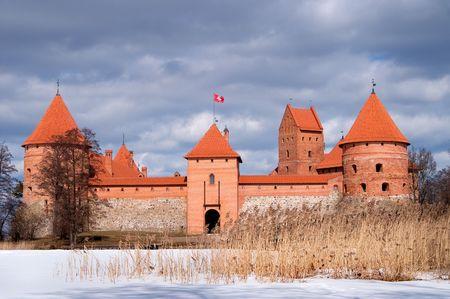 lithuania: Trakai defensive castle in Lithuania, near Vilnius Stock Photo