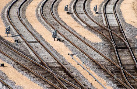 ferrocarril: La perspectiva de la uni�n ferroviaria de cruce de v�as