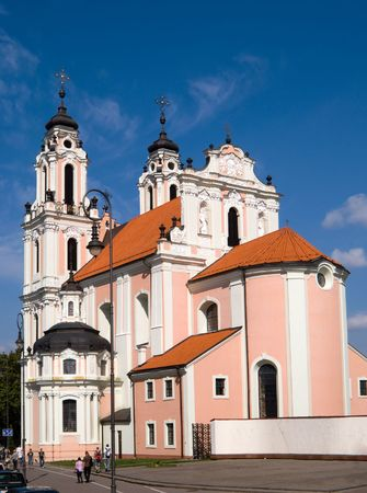catolic: Church of St. Catherine in Vilnius, Lithuania