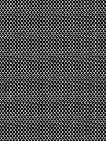 Aluminum background  holes in mesh pattern  photo