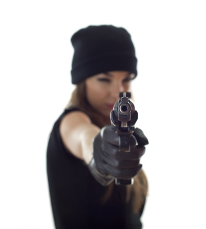 shooting woman photo