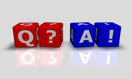 Cube words with Q&A Stock Photo - 9759217