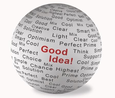 Illustration ball with inscription Good Idea Stock Illustration - 9980087