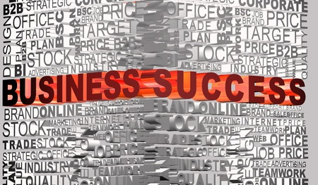 Business words related with highlighted word Success Stock Photo - 9980400