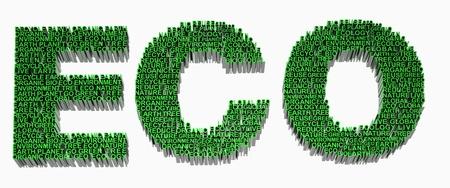 Palabras relacionadas con la ecolog�a incluidos eco, la tierra, global, �rbol, planeta, org�nica, verde, ir, reciclaje, bio, medio ambiente y geo. Foto de archivo - 10034890