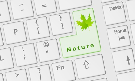 Nature keyboard rd Stock Photo - 10034876