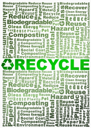 Recycle words related rendered with Recycle word in green Stock Photo - 10034888