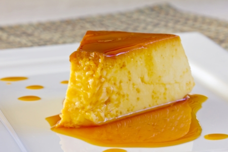 flan: Home made milk pudding