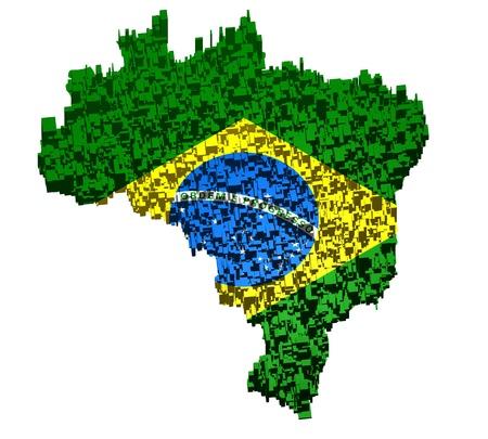 Brazilian map photo