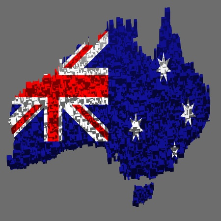 Australian map Stock Photo - 10281788