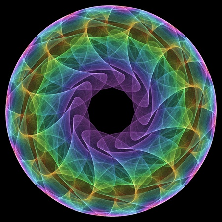 hypnotique: Fractal mandala ic�ne illustration rendu en 3D