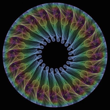 Fractal mandala icon illustration rendered in 3D illustration