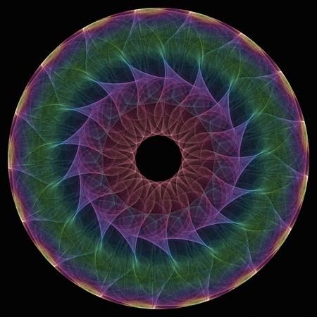 Fractal mandala icon illustration rendered in 3D Stock Illustration - 11866783